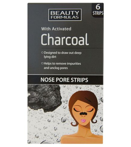 BEAUTY FORMULAS CHARCOAL Pásky na nos