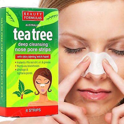 BEAUTY FORMULAS TEA TREE Pásky na nos