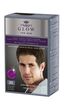 Farba pre mužov 50 - svetlohnedá