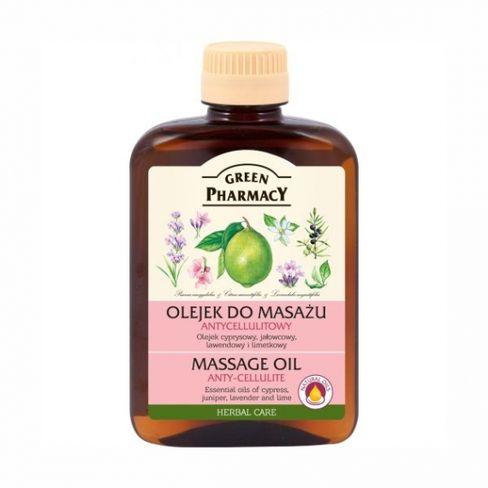 GREEN Pharmacy - Herbal Cosmetics Masážný olej proti celulitíde z cyprus, borievka, levanduľa a limetky 200 ml