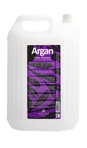 Kallos Argán šampón na farbené vlasy a vlasy bez lesku 5000ml.