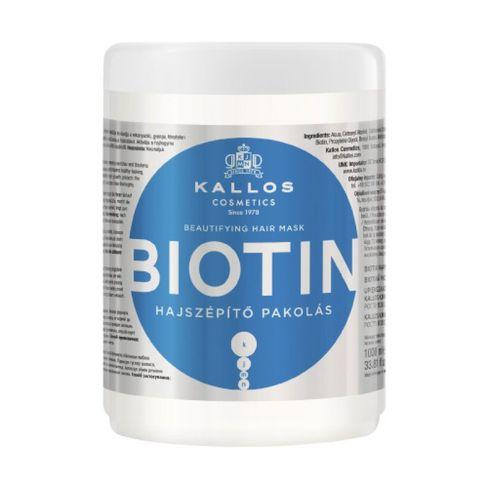 Kallos BIOTIN skrašľujúca maska na vlasy 1000 ml