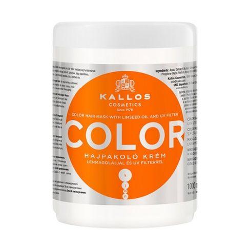 Kallos COLOR maska na vlasy s UV ochranou a ľanovým olejom-1000 ml