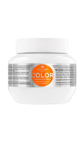 Kallos kjmn COLOR UV maska na vlasy s výťažkami z ľanových semienok a oleja pre farebné vlasy 275 ml