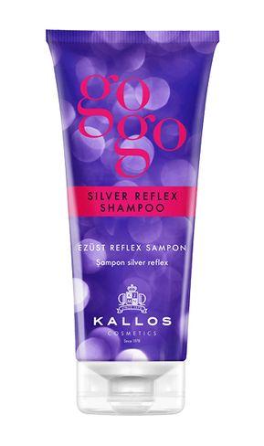 Kallos kjmn GOGO (silver reflex) strieborne farbiaci šampón na vlasy 200ml