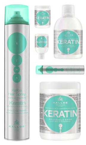 Kallos KERATÍN set - Lak+maska+šampón