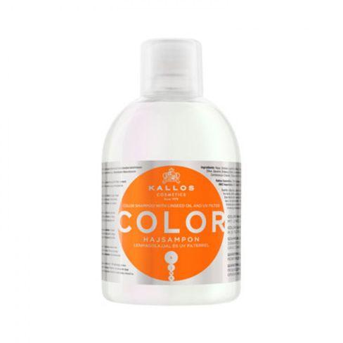 Kallos šampón COLOR na farbené vlasy s ľanovým olejom a UV filtrom na oslabené a poškodené vlasy 1000 ml.