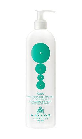kallos KJMN DEEP čistiaci šampón pre mastné vlasy a vlasovú pokožku 500ml