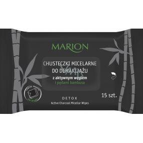 MARION Detox Active Charcoal micelarné vlhčené odličovacie obrúsky 15 kusov