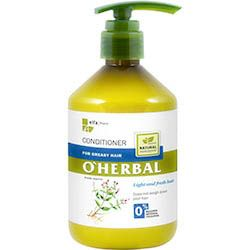 O´herbal - kondicionér pre mastné vlasy s extraktom z mäty 500 ml