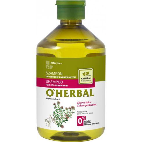 O´herbal - šampón na farebné vlasy s extraktom z tymiánu 500 ml