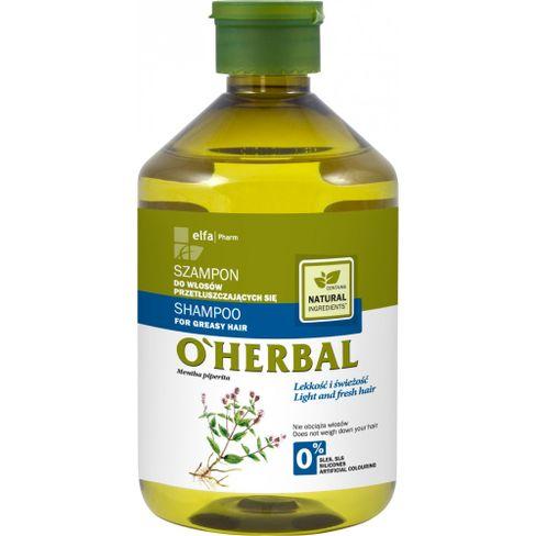O´herbal - šampón na mastné vlasy s extraktom z mäty 500 ml