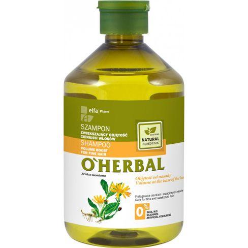 O´herbal - šampón na zvýšenie objemu pre jemné vlasy s extraktom z arniky 500 ml